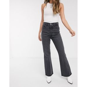 Levi's Black Ribcage Flare Button Fly Jeans